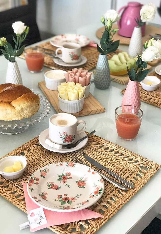 Simple breakfast for table set