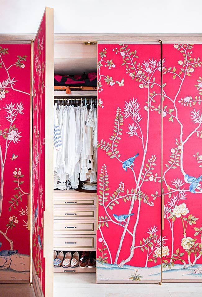 Pink on wallpaper background