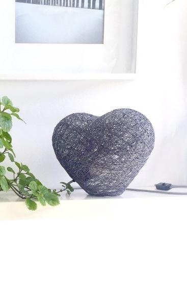 Interesting lamp with heart shape