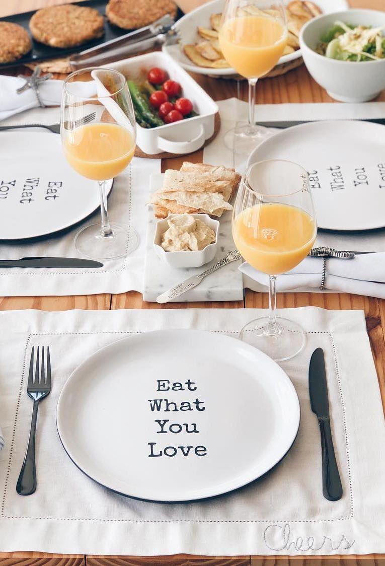Dish with message to table post