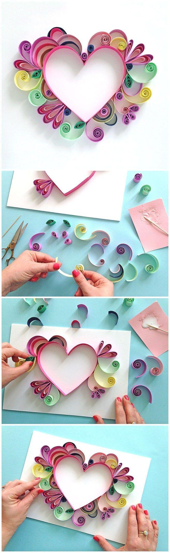 How to make handmade pictures: templates, photos and step-by-step 62