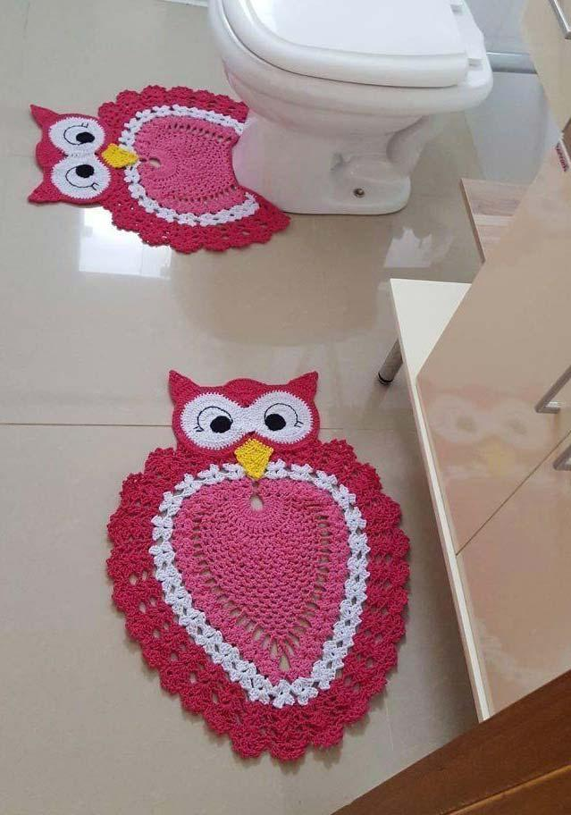 Owl bathroom set with rugs alone