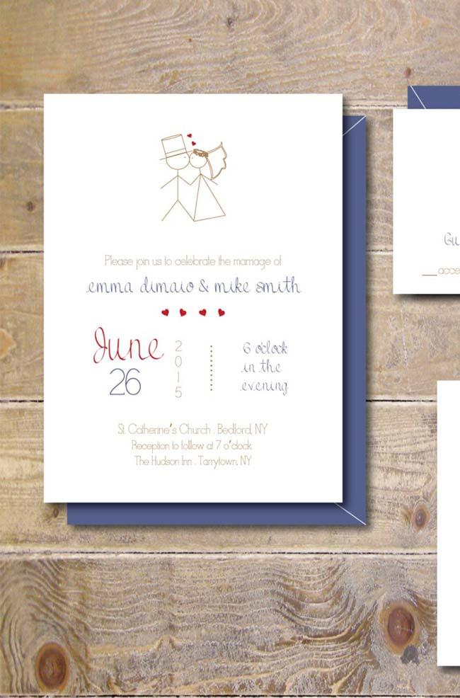 Simple Wedding Invitation with the Basics of Information