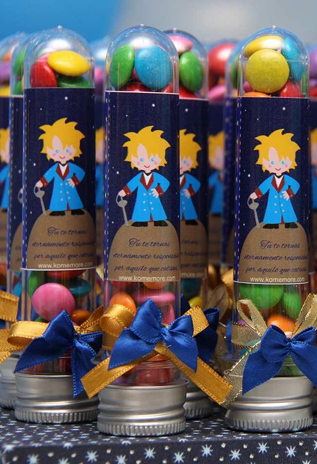 Confection tubes with character phrases