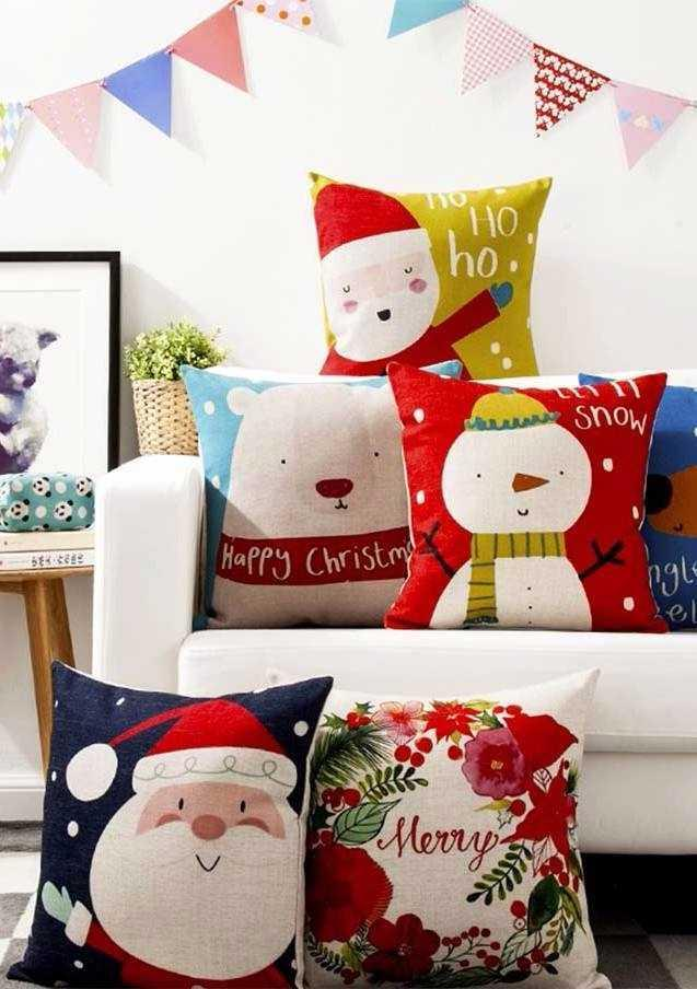 Christmas Cushions: 60 Decorating Ideas and How to Make 26
