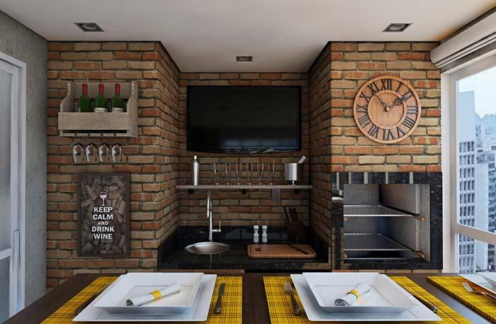 Decorate the walls of the grill in a thematic and fun way