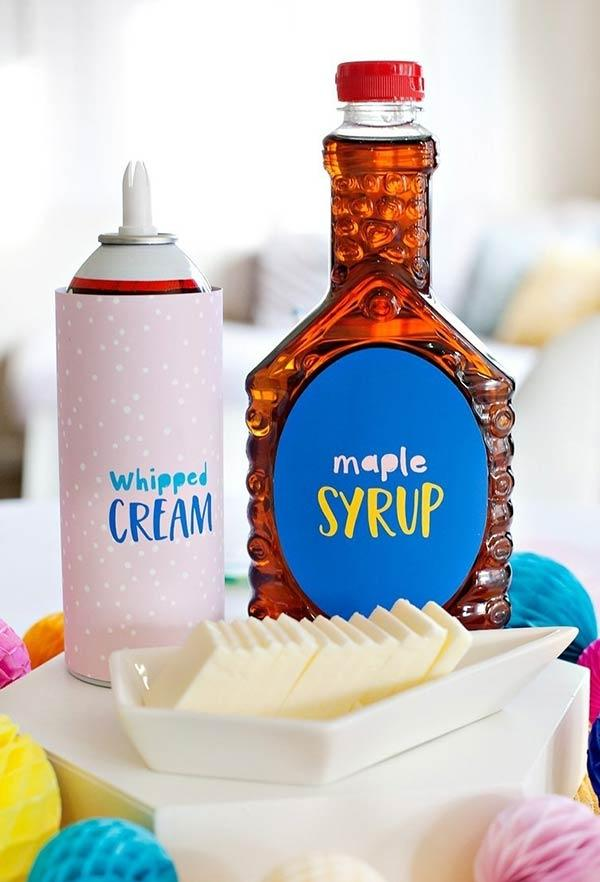 Custom packaging for pancake syrup