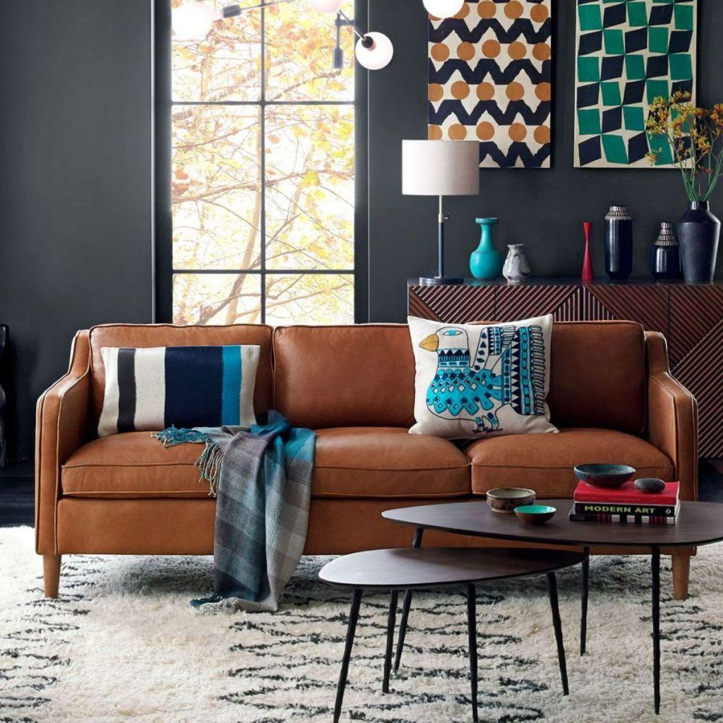Leather sofa: 70 incredible models to decorate environments 41