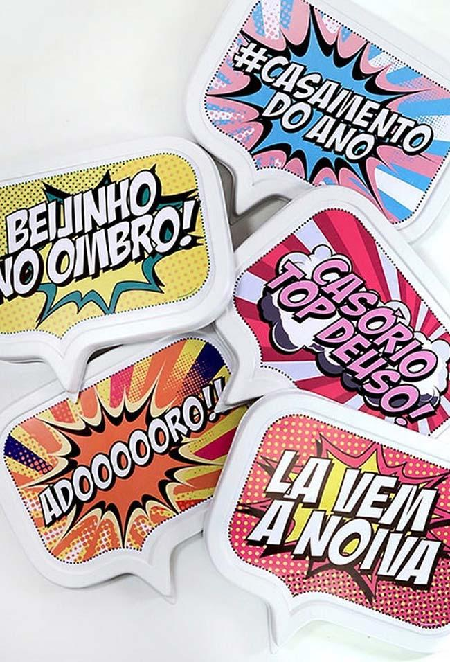 Party Plates inspired by comics