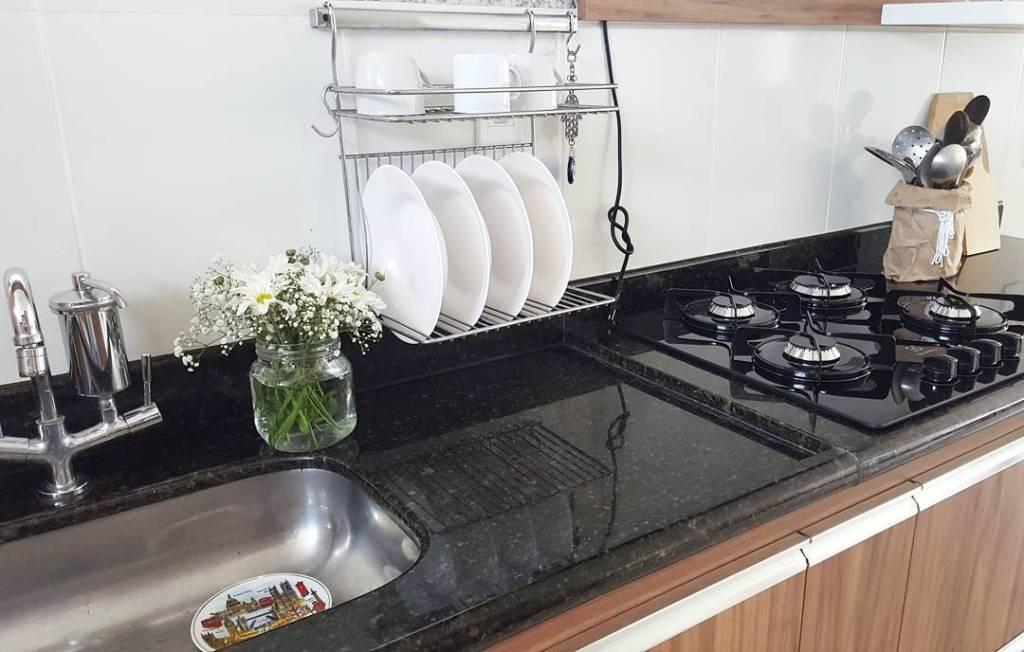 Dark granite in the kitchen