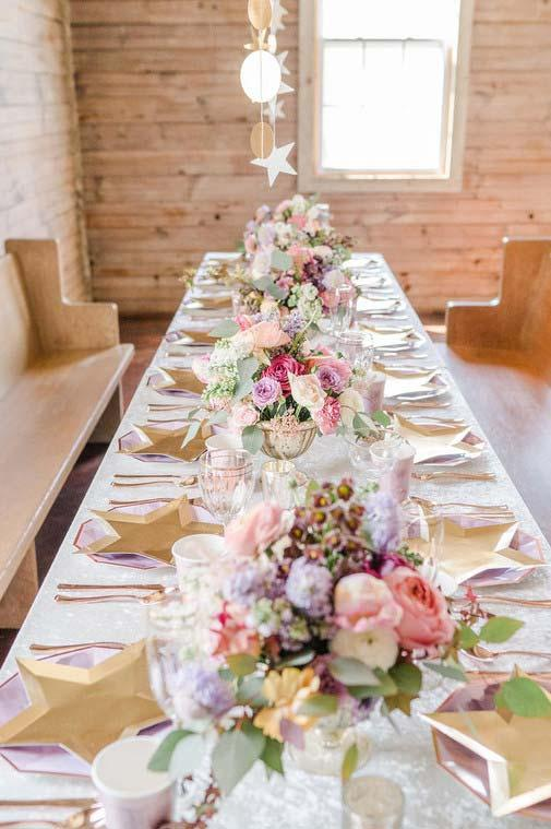 Special shape table decoration