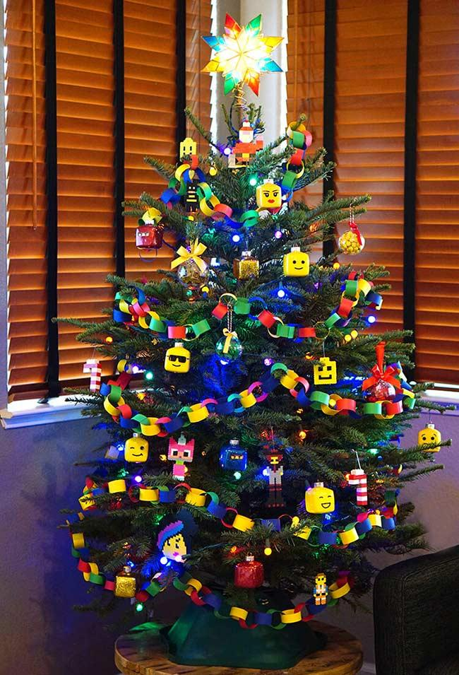 Christmas tree in the decoration style of LEGO