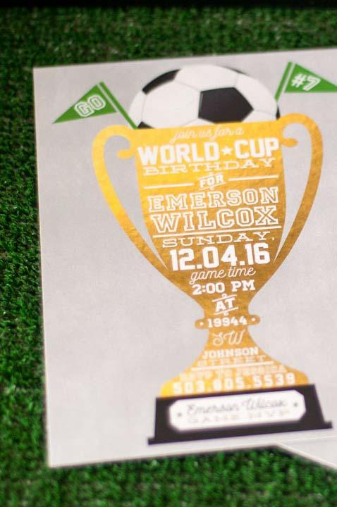 Birthday Party Invitation for World Cup