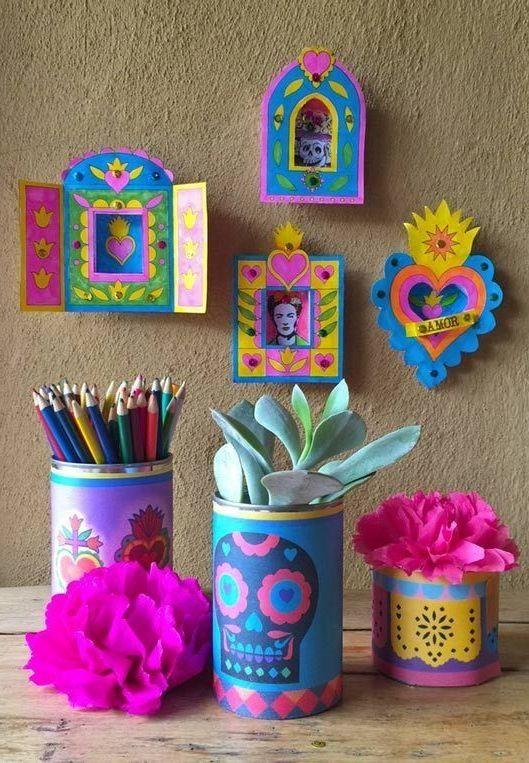 Decorated tins: 70 cool ideas to make at home 56
