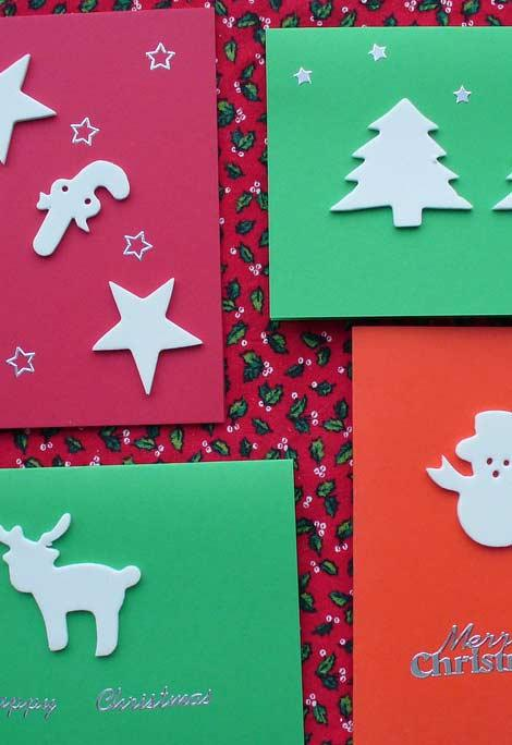 To cut and distribute Christmas cards